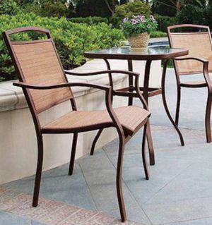 New!! 3 pc outdoor bistro set, patio set, outdoor conversation set, chat set, patio furniture , tan for Sale in Phoenix, AZ