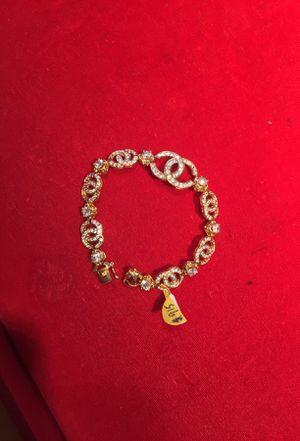 18K Gold Chanel CZ Bracelet for Sale in Philadelphia, PA