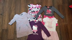 Girls lot of 5 (4T) dresses: Hello Kitty, Peppa Pig, Disney Minnie Mouse, Gap for Sale in Cypress, CA