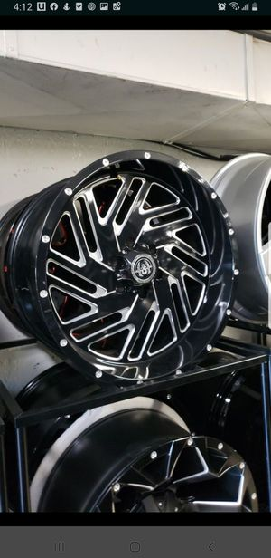 20x10 black hardcore offroad rims 6 lug 6x139 whit New MUD tires 33 1250 20 lt for Sale in Phoenix, AZ