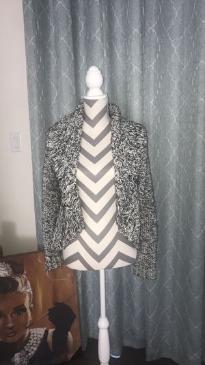 Cache Black & White Open Front Cardigan- Size M for Sale in South Windsor, CT