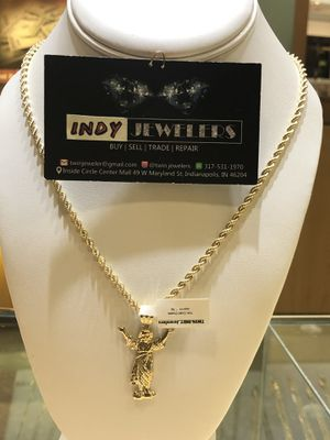 10Kt gold rope chain and charm available on special sale for Sale in Indianapolis, IN