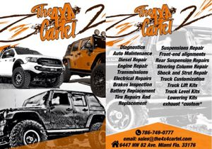 Jeep & Trucks Lift Kits / Leveling Kits/ Led Lights / Turbos/ Supercharge/Flare fenders / Brakes Parts and more... *****WE FINANCE***** We take all for Sale in Doral, FL