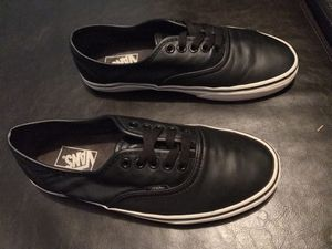 Vans Authentic Italian Leather Black for Sale in UNIVERSITY PA, MD
