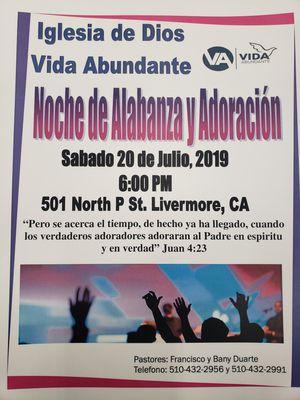 NOCHE DE ALAVANZA Y EXALTACION for Sale in Livermore, CA