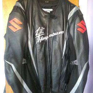 Leather Hayabusa motorcycle jacket for Sale in Detroit, MI