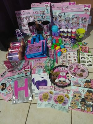 Huge lot of lol birthday party supplies for Sale in Ocala, FL