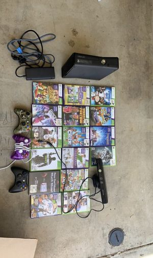 Xbox 360, 16 games, 4 controllers, sensor bar for Sale in Irvine, CA