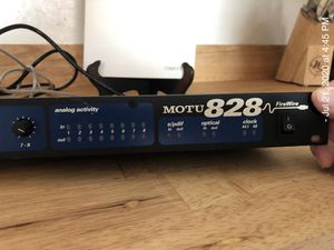 MOTU 828 Firewire Audio Interface good for older MAC computers with manual (compatible w/ MAC OS 9) for Sale in Torrington, CT