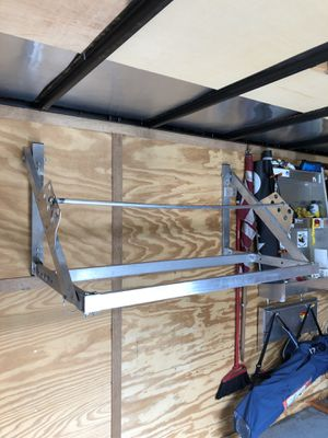 Tire rack aluminum 4' folding rack for trailer or garage for Sale in Arlington Heights, IL
