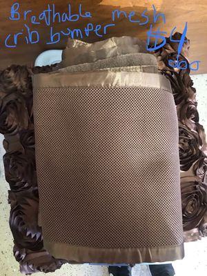 Mesh crib bumper - breathable for Sale in Whiteriver, AZ