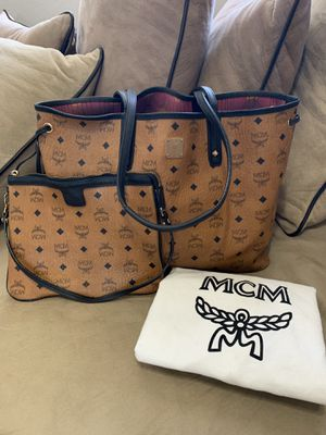 MCM Shopper Tote and Pouch for Sale in North Las Vegas, NV