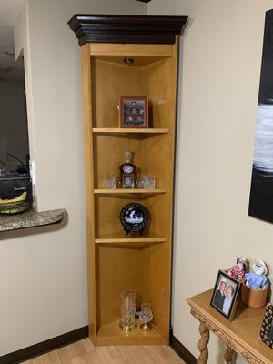 Corner unit with glass shelves for Sale in Delray Beach, FL