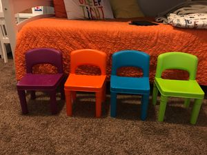 Plastic kid's chairs for Sale in Sacramento, CA