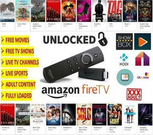 Un locked Amazon fire tv stick 2nd gen latest model fully loaded for Sale in Chicago, IL