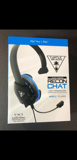 (MANY AVAILABLE) Turtle Beach Ear Force Recon Chat Wired Headset BLACK for PS4 NEW for Sale in Dearborn, MI
