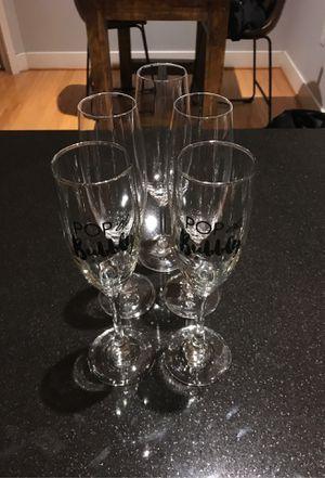 Champagne Flutes 5 total for Sale in Arlington, VA