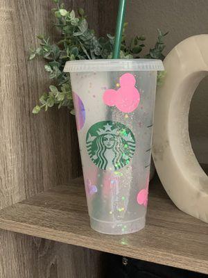 Disney glitter castle Venti Starbucks cup for Sale in Gilroy, CA