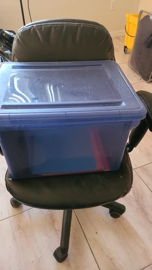 Portable plastic file cabinet $10 for Sale in Kissimmee, FL