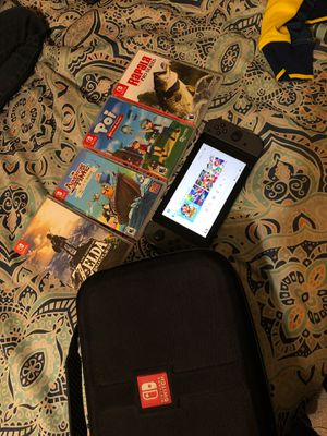 Nintendo switch with games for Sale in Bakersfield, CA