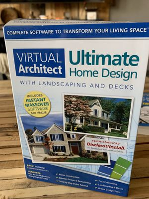Virtual architect home design software for Sale in Fort Worth, TX