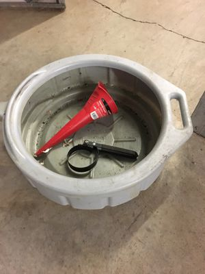 Oil change pan,funnel and wrench for Sale in Portland, OR