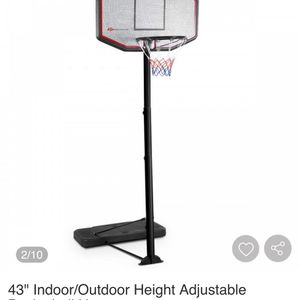 "43"" Indoor/Outdoor Height Adjustable Basketball Hoop for Sale in Bakersfield, CA"