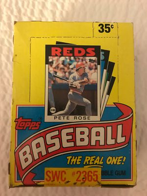 Sealed never opened 1986 Topps Wax Box for Sale in Riverview, MI