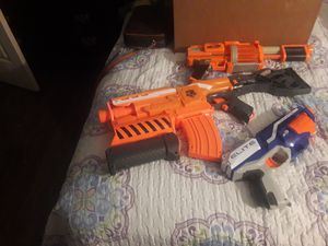 Kids toys lot...3 Nerf guns , transformers, robot chihuahuas from transformers for Sale in Dallas, TX
