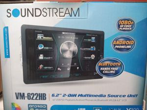 Soundstream double din with bluetooth brand new in the box for Sale in Pico Rivera, CA