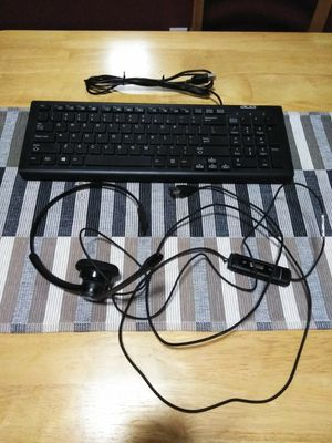 Computer Keyboard and headset for Sale in Lakeside, CA