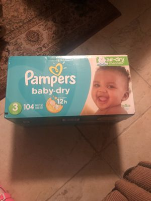 Pampers baby dry size 3 104 diapers for Sale in Glendale, AZ