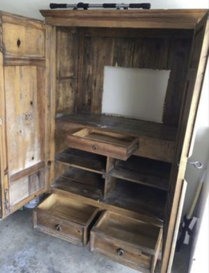 Rustic armoire real wood antique for Sale in Phoenix, AZ
