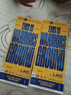 Warriors vs clippers for Sale in Oakland, CA