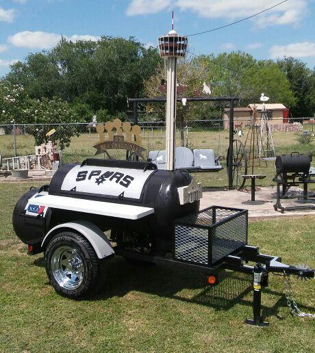 San Antonio Spurs Bbq Smoker Pit For Sale In San Antonio