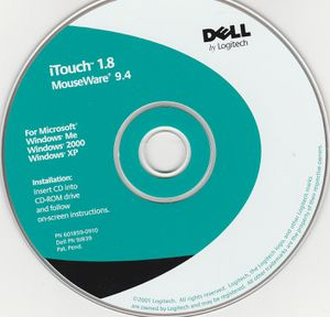 iTouch 1.8 MouseWare 9.4 ~ Dell by Logitech ~ Windows Me, 2000, XP ~ 2001 for Sale in Stockton, CA