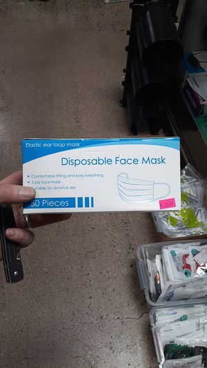 50 piece disposable face mask 3-ply new in box 50-pack for Sale in Phoenix, AZ