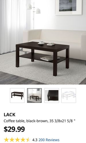 """Used IKEA (LACK) Coffee table, black-brown, 35 3/8 x 21 5/8 """" for Sale in Whittier, CA"""