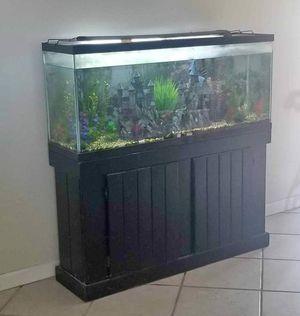 50 Gallon Aquarium w/Stand, lights & Filter for Sale in Fresno, CA