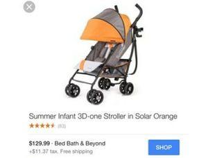 Summer Infant 3D-one stroller for Sale in San Francisco, CA