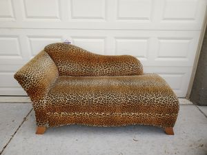 Sexy Leopard Chaise Lounge Sofa Couch Love Seat for Sale in Las Vegas, NV