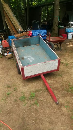 """Homemade trl in decent condition 34"""" wide x 52 """" long 40.00 in Wales Massachusetts for Sale in Wales, MA"""