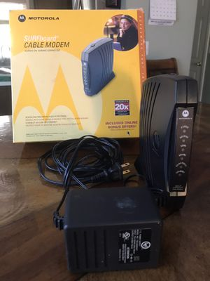 Motorola surfboard cable modem for Sale in Portland, OR