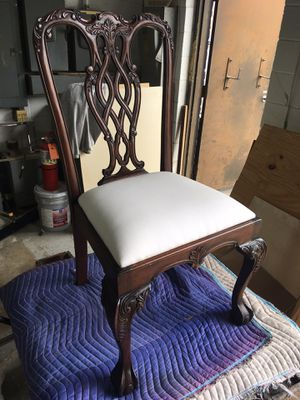 Detailed antique blank dining chair for Sale in Houston, TX