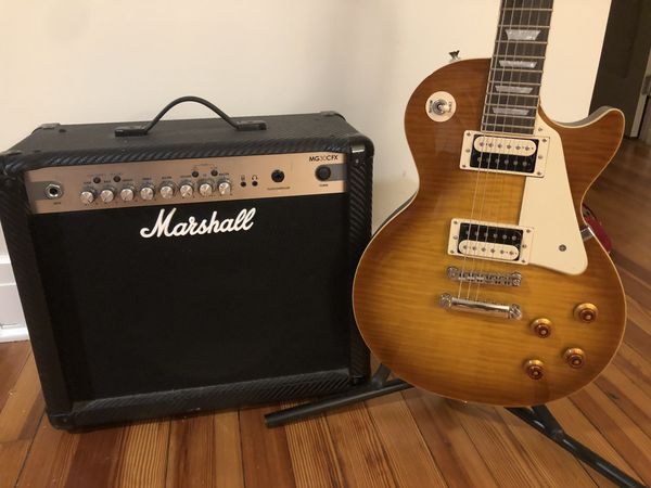 Epiphone Les Paul with Marshall Amp