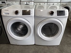 SAMSUNG XL CAPACITY STACKABLE WASHER DRYER ELECTRIC SET for Sale in Vancouver, WA