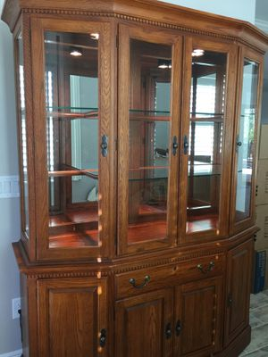Solid oak hutch for Sale in Fort Myers, FL