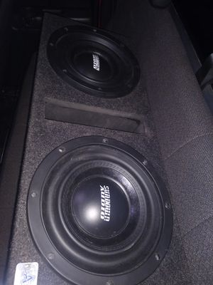 2 10 inch sundown audio subwoofers and a 1000 watt Sony explod amp for Sale in Ford, KY