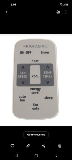 Frigidaire remote RG 15E/E-ELL1 for Sale in Houma, LA