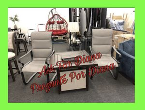 Outdoor Furniture (3Pc Fireplace & Chairs) for Sale in Houston, TX